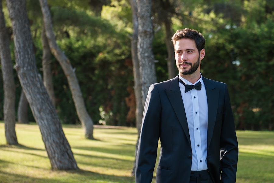 030 Destination wedding in greece athens at riviera estate bride groom first kiss ceremony photography - An elegant wedding in Athens
