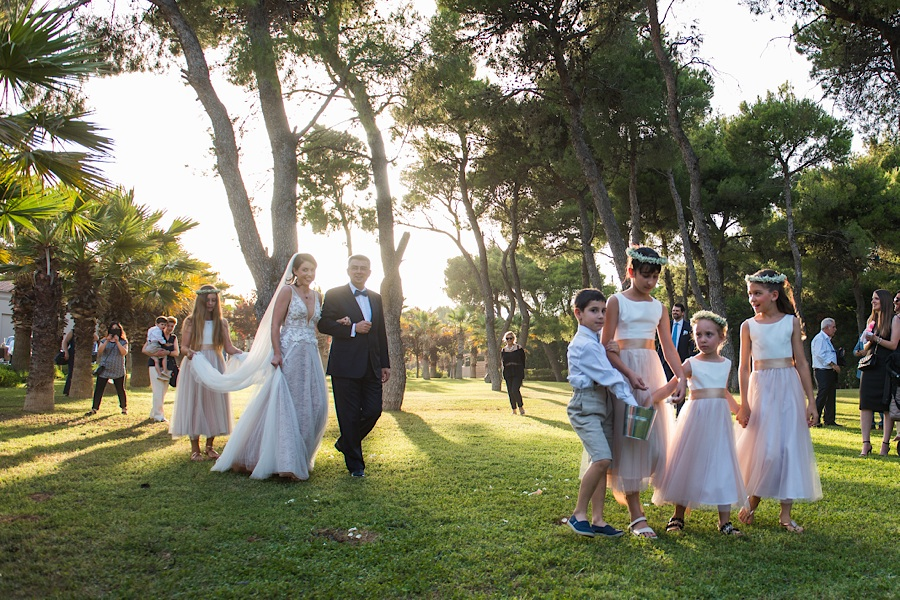 035 Destination wedding in greece athens at riviera estate bride groom first kiss ceremony photography - An elegant wedding in Athens