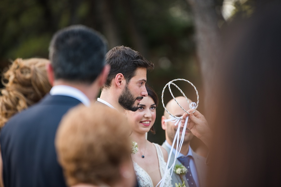 040 Destination wedding in greece athens at riviera estate bride groom first kiss ceremony photography - An elegant wedding in Athens