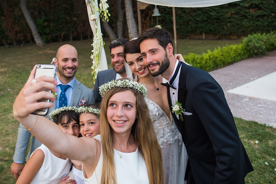 043 Destination wedding in greece athens at riviera estate bride groom first kiss ceremony photography - An elegant wedding in Athens