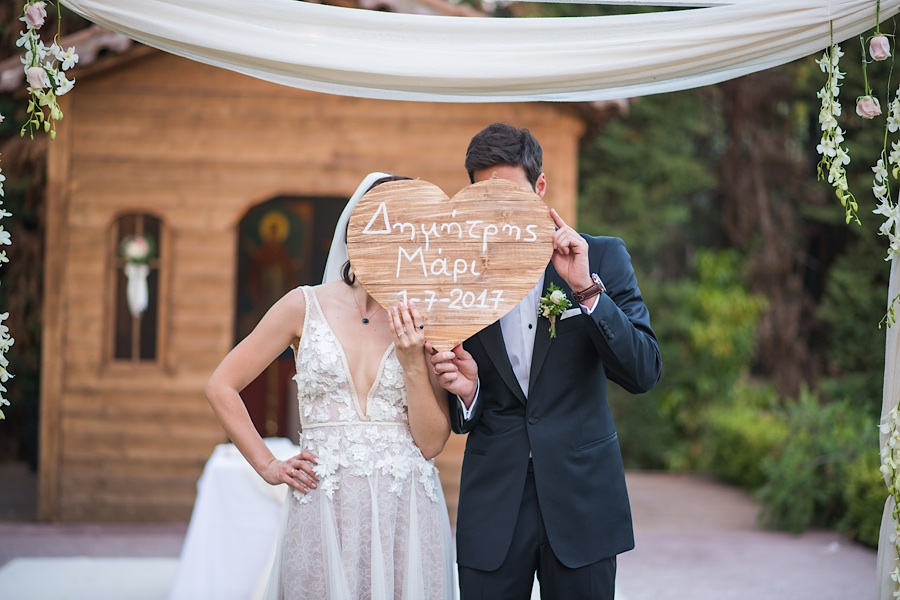 049 Destination wedding in greece athens at riviera estate bride groom first kiss ceremony photography - An elegant wedding in Athens