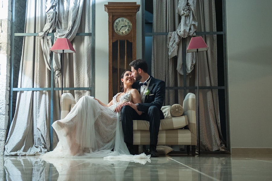 051 Destination wedding in greece athens at riviera estate bride groom first kiss ceremony photography - An elegant wedding in Athens